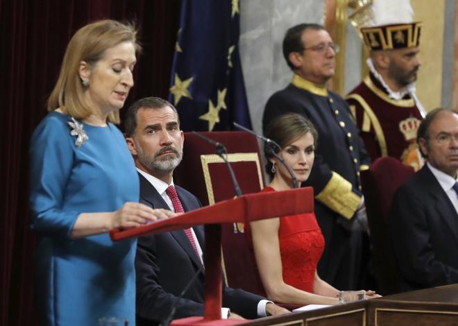 Ana Pastor, en un momento de su intervención en el Congreso.