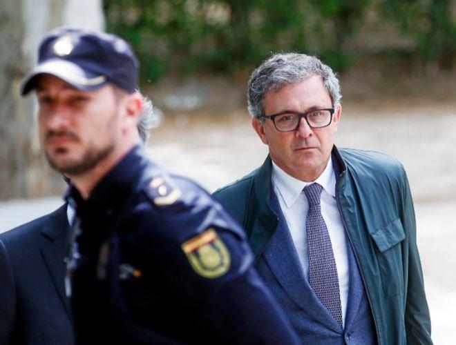 Jordi Pujol Ferrusola de camino a la Audiencia Nacional el pasado mes...
