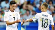 Joshua Kimmich y Julian Draxler, con la Selección de Alemania absoluta.
