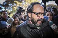 El empresario Álvaro Pérez, 'el Bigotes', en una comparecencia en 2017 en los juzgados de Valencia.