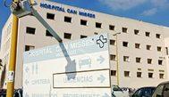 El hospital de Can Misses, en Ibiza, donde fue ingresada la víctima en estado grave.