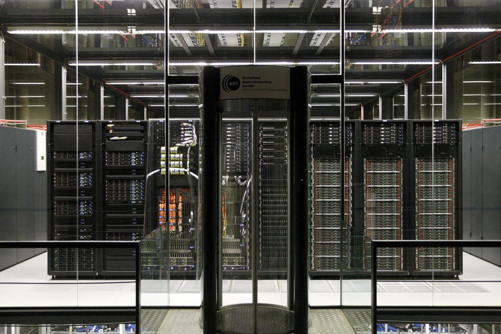 Imagen del MareNostrum 3 en el Barcelona Supercomputing Center- Centro Nacional de Supercomputación