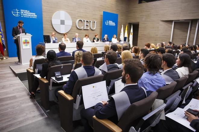 El acto de clausura, en la Universidad CEU San Pablo.
