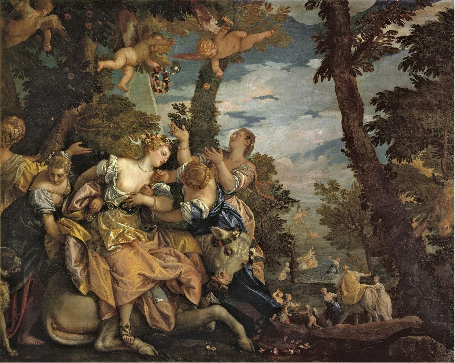 """""""Venus y Adonis"""" (1580), de Verónes."""