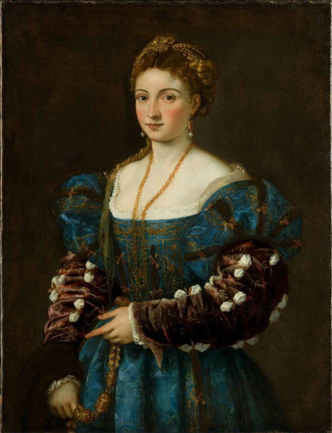 """""""Retratro de una mujer"""" (1536), de Tiziano."""