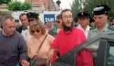 José Antonio Ortega Lara tras el fin de su secuestro en 1997.