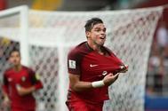 Pepe celebra el gol del empate en el 91 de Portugal ante México.