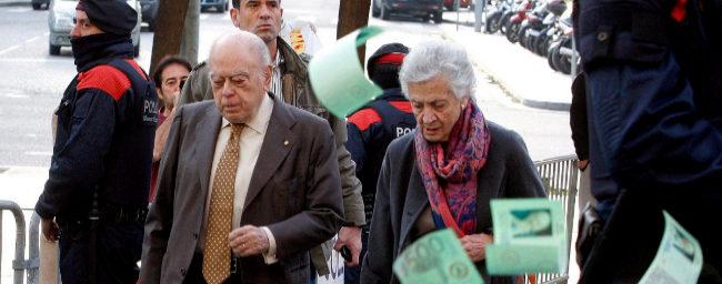 Jordi Pujol y Marta Ferrusola, a su llegada a los juzgados de...