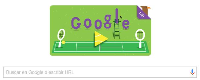 8336dc8945a Torneo de Wimbledon  El nuevo  doodle  de Google se juega unos puntos en  Wimbledon