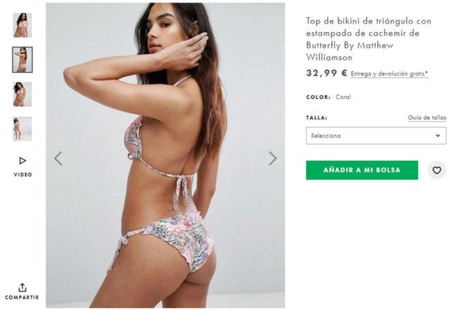 Una modelo con estrías en Asos. La tienda online ha decidido...