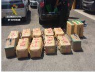Heroína incautada por la Guardia Civil en una operación contra el narcotráfico.