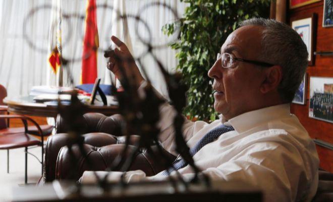 Alejandro Blanco, en las oficinas del COE.