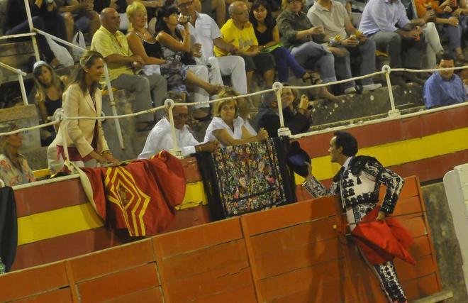 Brindis de 'El Cid' a la Infanta Elena, que el pasado año acudió al Coliseo balear en apoyo a la tauromaquia