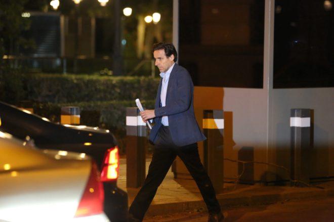El empresario Javier López Madrid, saliendo de la Audiencia Nacional...