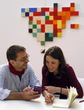 Juan Carlos Monedero e Irene Montero, en un acto de Podemos.