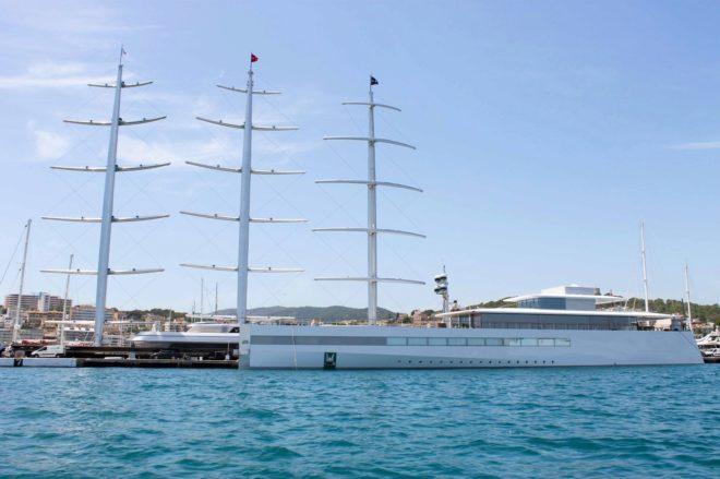 Los barcos amarrados en el Club de Mar Mallorca