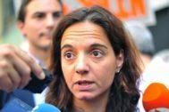 La secretaria general del PSOE-M y alcaldesa de Getafe, Sara Hernández.