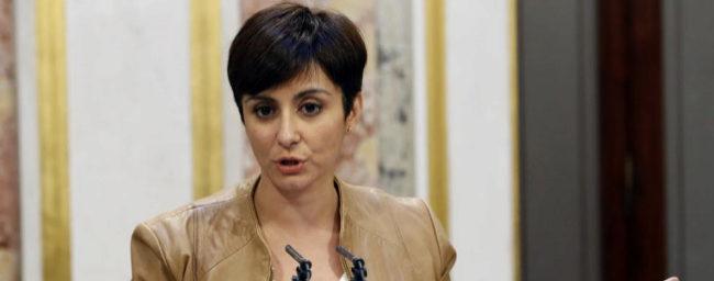 Isabel Rodríguez, en rueda de prensa tras un pleno en el Congreso de...