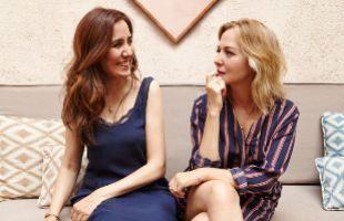 La experta en estudios de mercado Estefanía Yagüez junto a la actriz...
