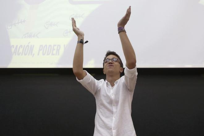 Íñigo Errejón, durante su participación en la universidad de...