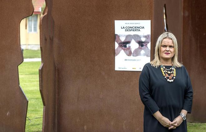 Mari Mar Blanco, hermana del concejal asesinado, en un homenaje a las...