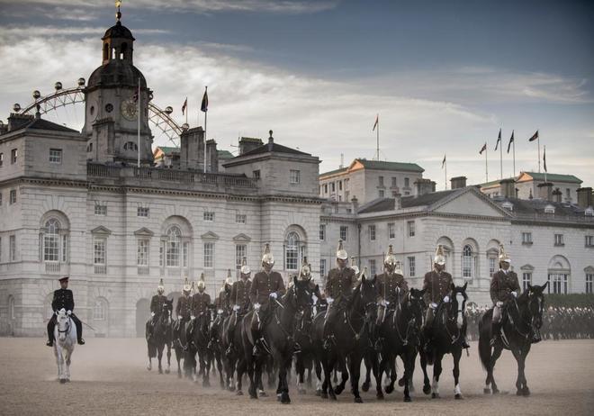 La Guardia Real Montada participa en un ensayo ante la visita de...