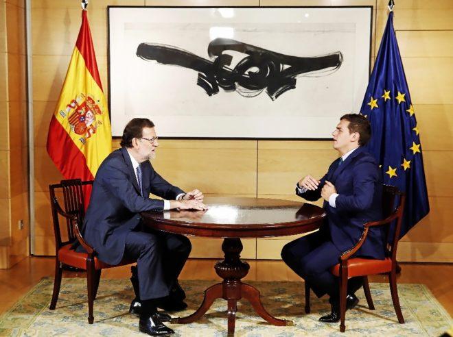 Mariano Rajoy y Albert Rivera, el verano del a