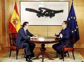 Mariano Rajoy y Albert Rivera, el verano del año pasado, en las...