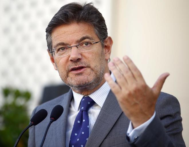 El ministro de Justicia, Rafael Catalá, durante un acto en Madrid en...
