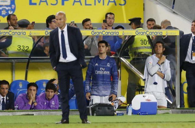 Zidane en un partido de Liga frente a Las Palmas.
