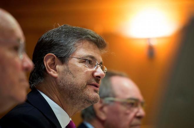 El ministro de Justicia, Rafael Catalá, asiste a unos cursos de...