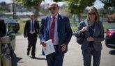 El fiscal general del Estado, José Manuel Maza, llega a un curso en...
