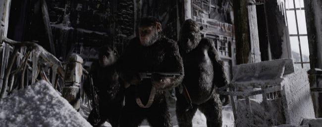 Fotograma de la película 'La guerra del planeta de los simios'.