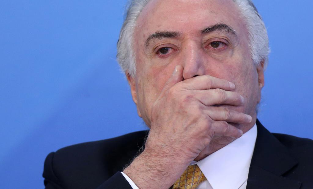 El presidente de brasil Michel Temer participa en una ceremonia en el Palacio Planalto.