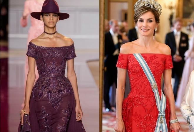 A la izquierda, el diseño de  Zuhair Murad; a la derecha la propuesta...