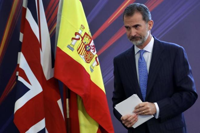 Felipe VI durante el discurso pronunciado en Londres ante dos...