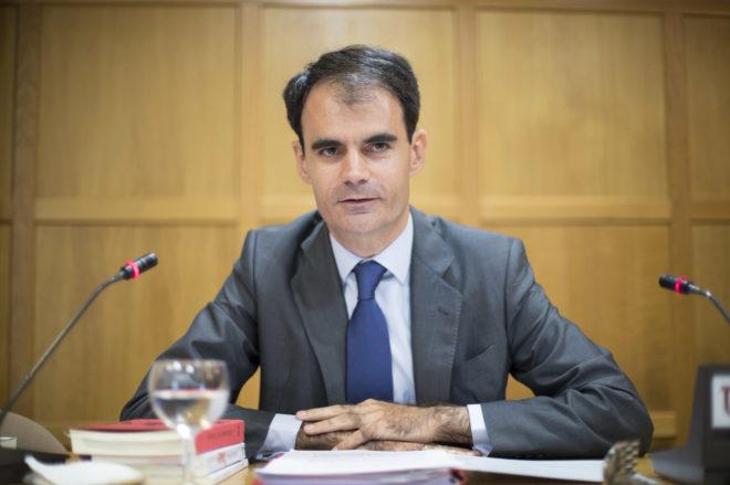 El juez Pablo Ruz, en su charla en la Universidad Internacional Menéndez pelayo, en Santander.