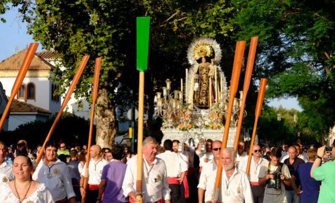 Procesión de la Virgen del Carmen en El Palo (Málaga).