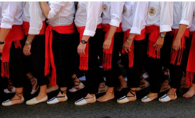 Detalle de la vestimenta de los mozos en El Palo (Málaga)