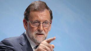 El presidente del Gobierno, Mariano Rajoy, durante una reciente rueda...