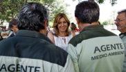 La presidenta andaluza, Susana Díaz, en un acto con agentes de...