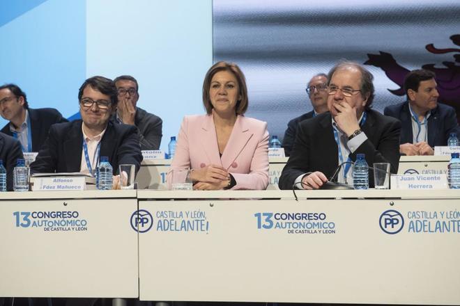 Alfonso Fernández-Mañueco, María Dolores de Cospedal y Juan Vicente...