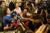 La vicepresidenta del Gobierno, Soraya Sáenz de Santamaría, hoy en...