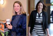 La líder laborista, Kezia Dugdale (d), y la diputada independentista Jenny Gilruth (i) mantienen una relación sentimental.
