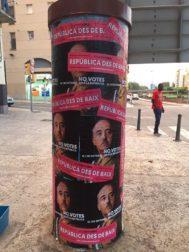 """Carteles con la imagen de Franco y el el lema """"No votes el 1 de octubre"""""""