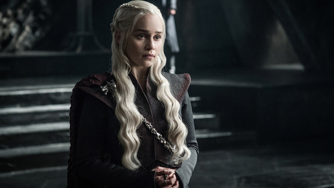 Emilia Clarke, como Daenerys Targaryen, en la séptima temporada de...
