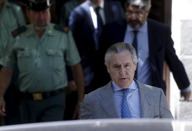 Miguel Blesa tras declarar en el Tribunal Superior de Justicia de...