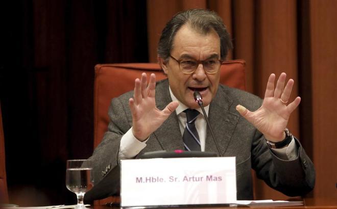 El ex president  de la Generalitat, Artur Mas, en la comisi