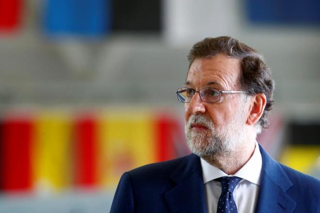 Mariano Rajoy, durante a su visita a las tropas españolas en Estonia.