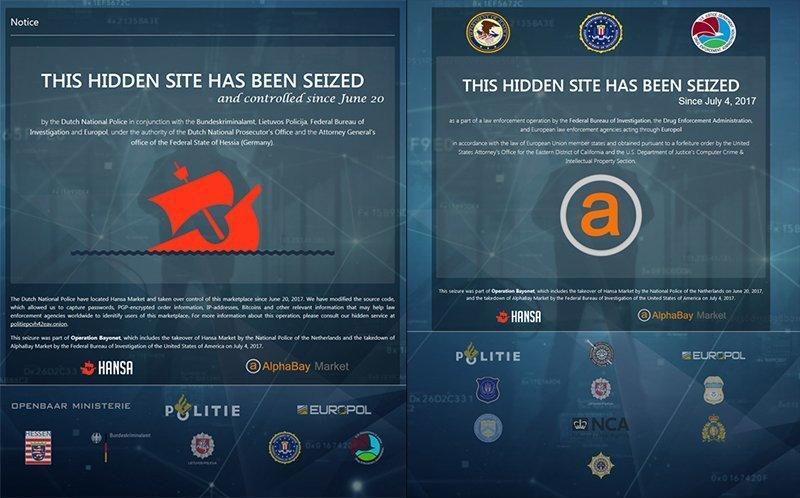 Estados Unidos cierra los dos principales mercados de la droga en la Deep Web
